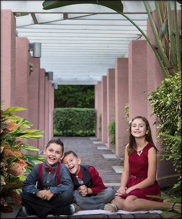 childrens portrait from family portrait St Petersburg FL