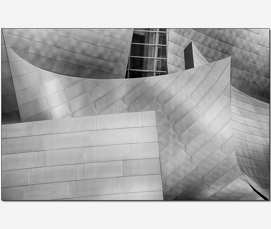 detail of the Disney Concert Hall Frank Gehry