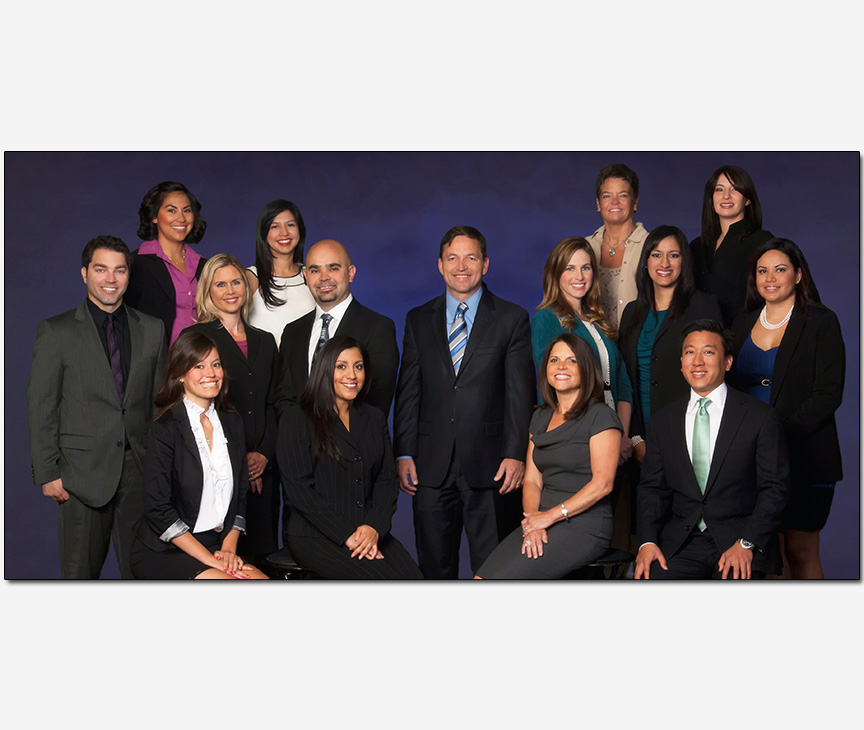 advertising marketing photography with attorney partners and staff large group photo
