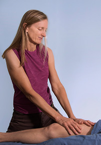 massage-therapist business photography at her work place